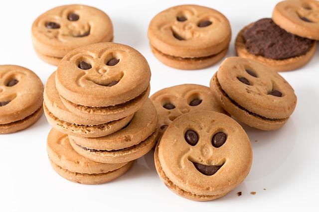 sušenky s obličejem